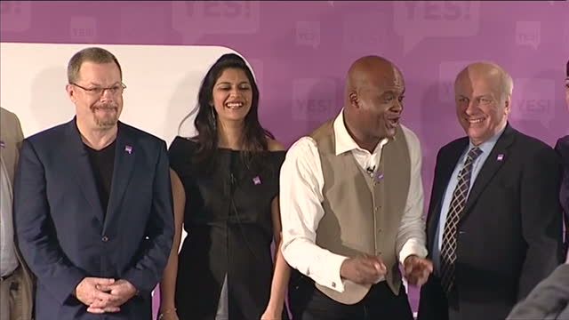 eddie izzard chris akabusi greg dyke were among the famous names launching the yes to av campaign they claim the alternative vote system would mean... - yes single word stock videos & royalty-free footage