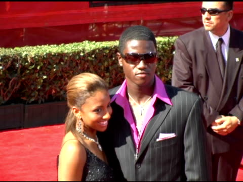 eddie johnson and guest at the 13th annual espy awards arrivals at the kodak theatre in hollywood, california on july 13, 2005. - espy awards stock videos & royalty-free footage