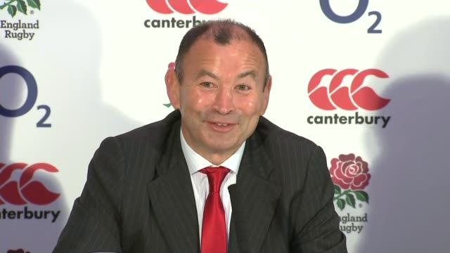 eddie jones to be new england coach int eddie jones press conference sot i wasn't the coach of england i was a columnist / i was probably being a bit... - columnist stock videos & royalty-free footage