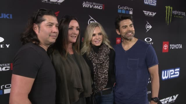 eddie judge and tamra judge at monster energy supercross celebrity night at angel stadium of anaheim on january 19, 2019 in anaheim, california. - angel stadium stock videos & royalty-free footage
