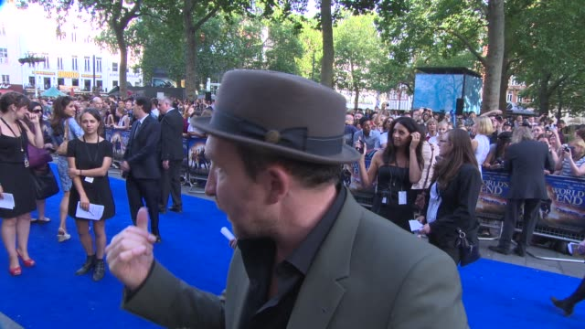 eddie marsan on meeting edgar wright, being on set at 'the world's end' world premiere at empire leicester square on july 10, 2013 in london, england. - the world's end stock videos & royalty-free footage