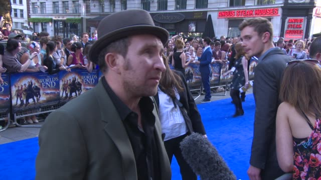 eddie marsan, paddy considine at 'the world's end' world premiere at empire leicester square on july 10, 2013 in london, england. - the world's end stock videos & royalty-free footage
