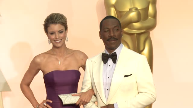 eddie murphy and paige butcher at 87th annual academy awards arrivals at dolby theatre on february 22 2015 in hollywood california - eddie murphy stock videos & royalty-free footage