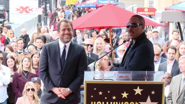 eddie murphy at brett ratner honored with star on the hollywood walk of fame on january 19, 2017 in hollywood, california. - walk of fame stock videos & royalty-free footage