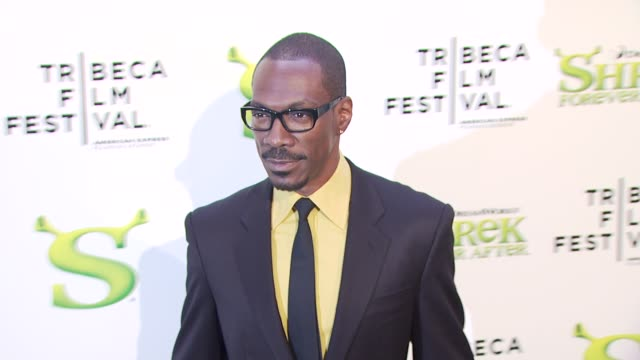 eddie murphy at the 'shrek forever after' opening night premiere 9th annual tribeca film fest at new york ny - eddie murphy stock videos & royalty-free footage