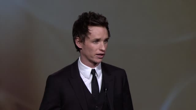 SPEECH Eddie Redmayne at 24th Annual Palm Springs International Film Festival Awards Gala on 1/5/13 in Los Angeles CA
