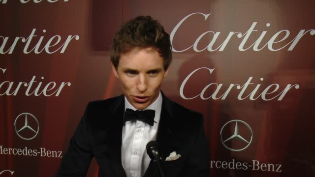 interview – eddie redmayne on being honored with the desert palm achievement award what makes this festival different from others how he's gearing up... - cartier video stock e b–roll