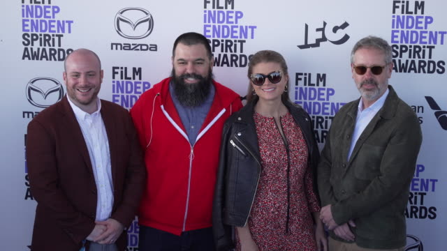 eddie rubin andrew miano daniele tate melia and peter saraf at the 2020 film independent spirit awards on february 08 2020 in santa monica california - film independent spirit awards stock videos & royalty-free footage