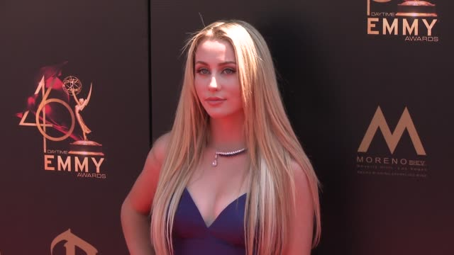 eden mccoy at the 2019 daytime emmy awards at pasadena civic center on may 05 2019 in pasadena california - annual daytime emmy awards stock videos & royalty-free footage