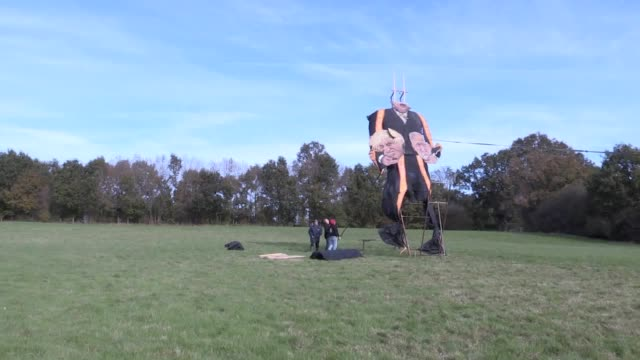 edenbridge bonfire society has revealed speaker john bercow is at the centre of the celebrity effigy for 2019 heavy winds in kent have ripped the... - effigy stock videos & royalty-free footage