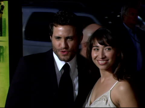 Edgar Ramirez and guest at the 'Domino' Los Angeles Premiere at Grauman's Chinese Theatre in Hollywood California on October 11 2005