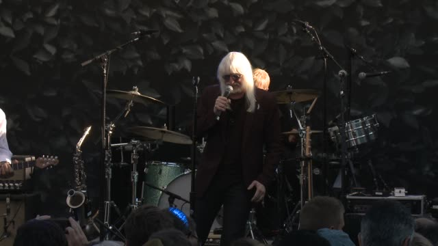 performance edgar winter at john varvatos celebrates international day of peace with a special performance by ringo starr and an all starr band on... - ringo starr stock videos and b-roll footage