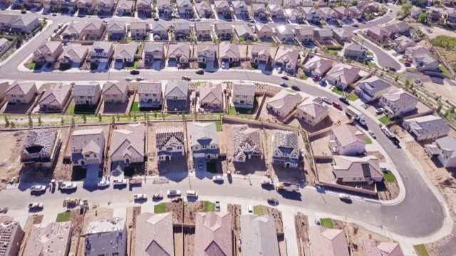 edge of suburbia - aerial view - santa clarita stock videos & royalty-free footage
