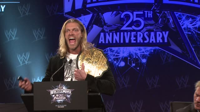 Edge on being better than everyone else and proving it at the WrestleMania 25th Anniversary Press Conference at New York NY