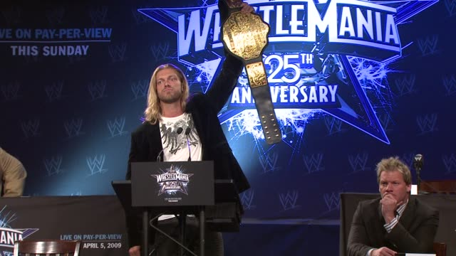 Edge on being the best and proving it in the upcoming WrestleMania at the WrestleMania 25th Anniversary Press Conference at New York NY