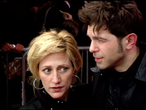 edie falco and guest at the 'three burials of melquiades estrada' new york premiere at the paris theater in new york new york on december 12 2005 - the three burials of melquiades estrada stock videos and b-roll footage