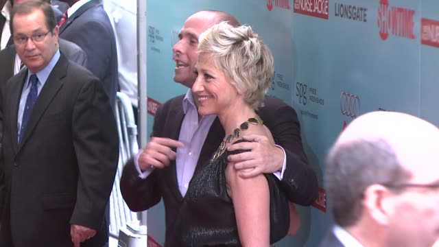 edie falco and paul schulze at the world premiere of showtime's 'nurse jackie' at new york ny - nurse jackie video stock e b–roll