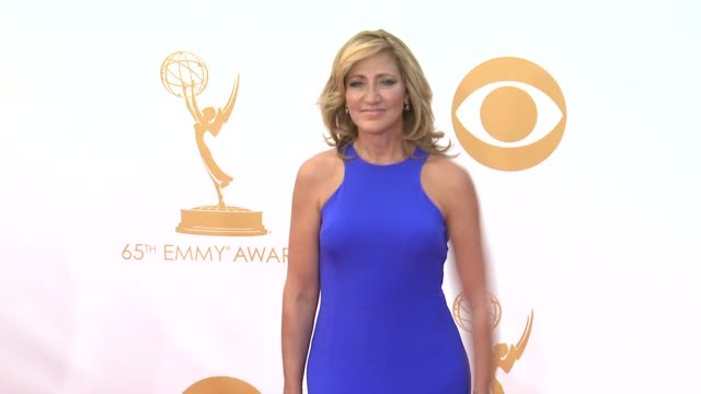 edie falco at 65th annual primetime emmy awards arrivals on 9/22/2013 in los angeles ca - annual primetime emmy awards stock-videos und b-roll-filmmaterial