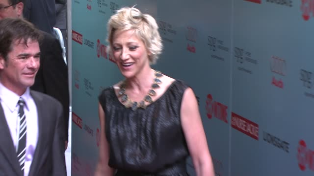 edie falco at the world premiere of showtime's 'nurse jackie' at new york ny - nurse jackie video stock e b–roll