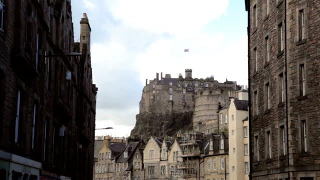 Edinburgh castle and skyline from the Grassmarket
