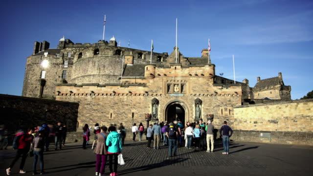 edinburgh castle, scotland, uk - edinburgh castle stock videos & royalty-free footage