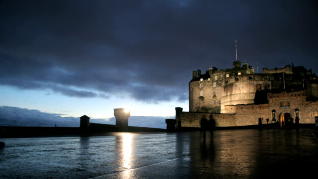 Edinburgh castle time lapse
