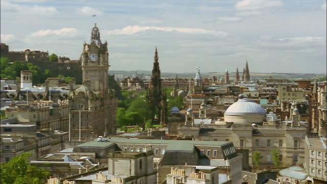 Edinburgh Castle towers over Old Town Edinburgh.