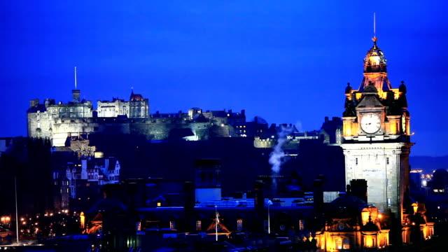 HD: Edinburgh Cityscape at Dusk