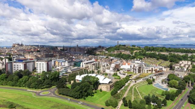 edinburgh stadsbilden - tidsfördröjning - holyrood bildbanksvideor och videomaterial från bakom kulisserna