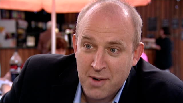 tim vine delivers funniest joke tim vine interview sot secret to winning this is to write one liners / you're in much smaller group of people vine... - comedian stock videos and b-roll footage