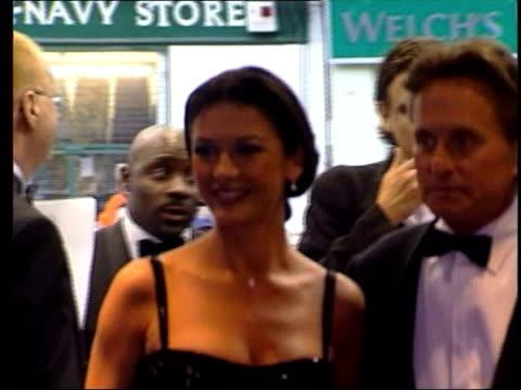 edinburgh: int actress catherine zeta jones towards with husband michael douglas - catherine zeta jones video stock e b–roll