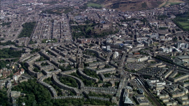 Edinburgh New Town  - Aerial View - Scotland, Edinburgh, United Kingdom