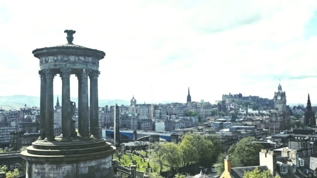 edinburgh panorama - scotland stock videos & royalty-free footage
