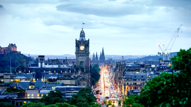 edinburgh, scotland, uk time lapse - edinburgh scotland stock videos & royalty-free footage