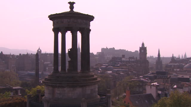 edinburgh skyline - general view stock videos & royalty-free footage
