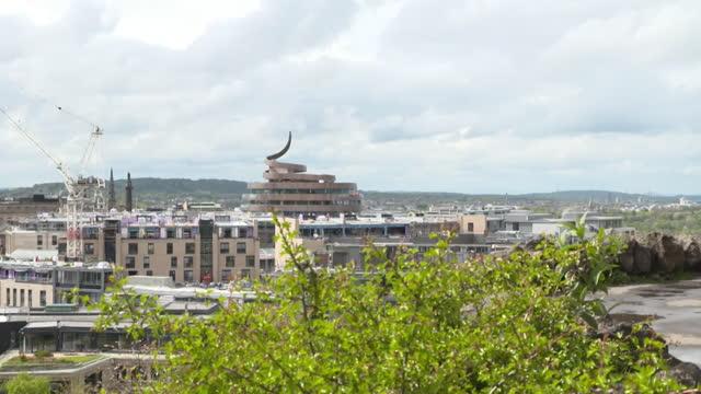 edinburgh skyline - clock tower stock videos & royalty-free footage