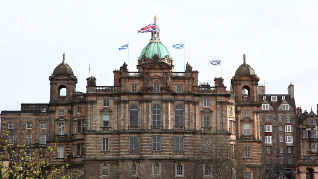 Edinburgh skyline with Flag
