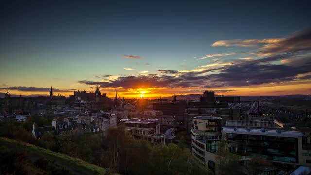 Edinburgh Sunset - Time Lapse