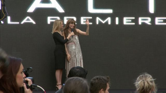 edith bowman and angelina jolie at the salt uk premiere at london england. - première stock videos & royalty-free footage