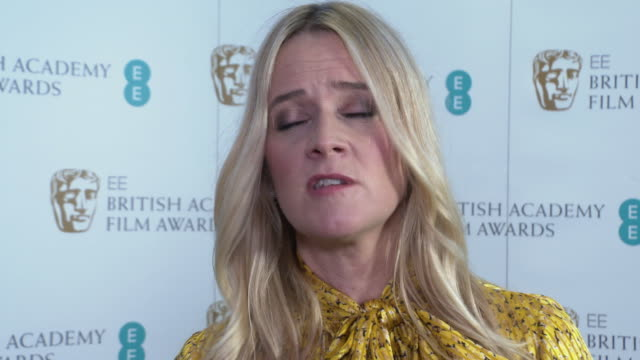 edith bowman on the nominations, the quality of the nominees performances, the diversity of different films, british acting strength at ee bafta... - nominee stock videos & royalty-free footage