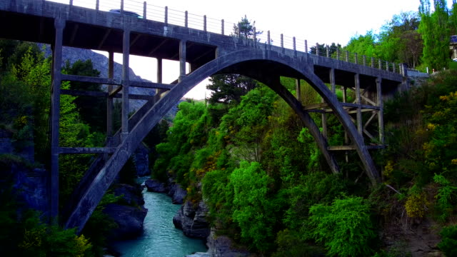 edith cavell bridge - queenstown stock videos & royalty-free footage