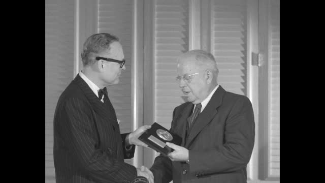 editor and publisher of look gardner cowles presents look award to y frank freeman vpresident paramount pictures corp and chairman association of... - paramount pictures stock videos and b-roll footage