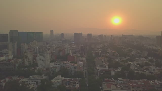 mexico city - very unhealthy air quality day this is the stuff of editorial, i shot these images today from a drone, these are aerial shots from... - editorial stock videos & royalty-free footage