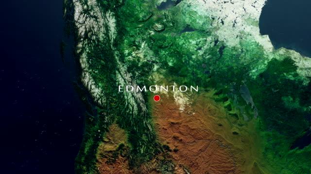 edmonton 4k  zoom in - edmonton stock videos and b-roll footage