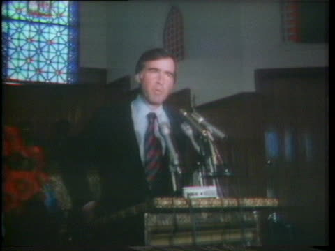 edmund brown jr. discusses uniting catholics and baptists during his presidential campaign. - united states and (politics or government) stock videos & royalty-free footage