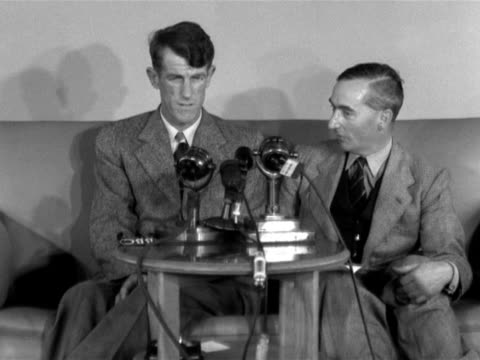 edmund hillary talks to jack longland about the final efforts to reach the sumit of mount everest. - tenzing norgay stock videos & royalty-free footage