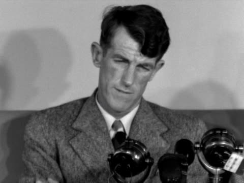 stockvideo's en b-roll-footage met edmund hillary talks to jack longland about the views from the sumit of mount everest - tenzing norgay