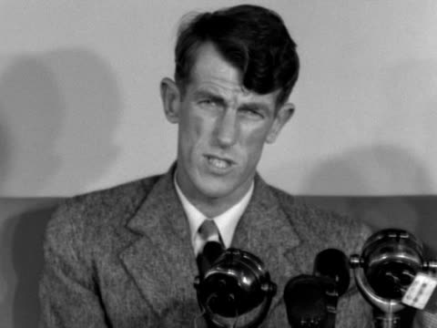 stockvideo's en b-roll-footage met edmund hillary talks to jack longland about what items he and tenzing norgay left on the sumit of mount everest - tenzing norgay