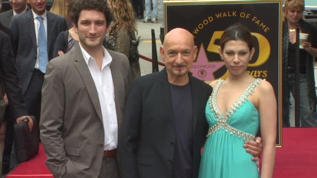 edmund kingsley ben kingsley and daniela lavender at the ben kingsley honored with a star on the hollywood walk of fame at hollywood ca - ben kingsley stock videos & royalty-free footage