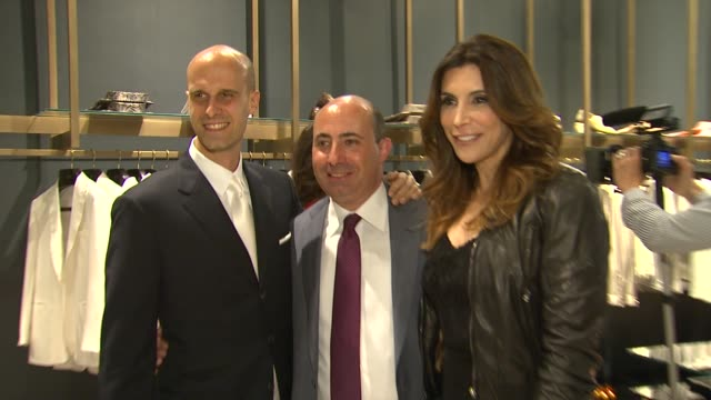 Edoardo Ponti Francesco Pesci Jo Champa at Brioni Rodeo Drive Boutique Opening on 5/10/12 in Los Angeles CA